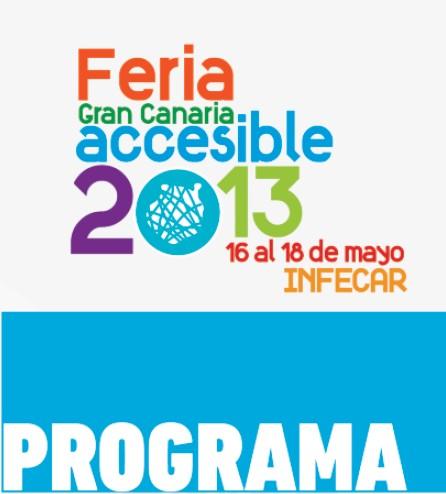 Programa feria Gran Canaria Accesible 2013