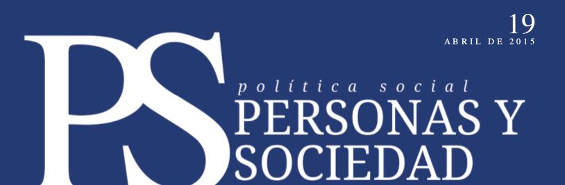 Personas y Sociedad nº 19, abril 2015