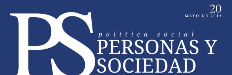 Personas y Sociedad nº 20, mayo 2015