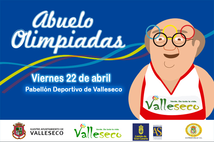 cartel Abuelo Olimpiadas Valleseco 2016