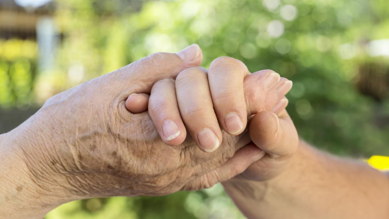 Hände - alt und jung.
